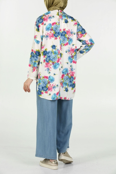 Flower Patterned Blouse