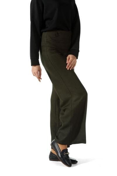 Bol Paça Fermuarlı Pantolon
