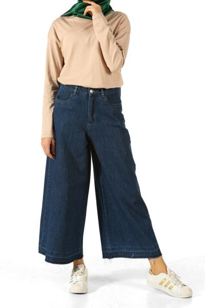 Wide Leg Hijab Jeans