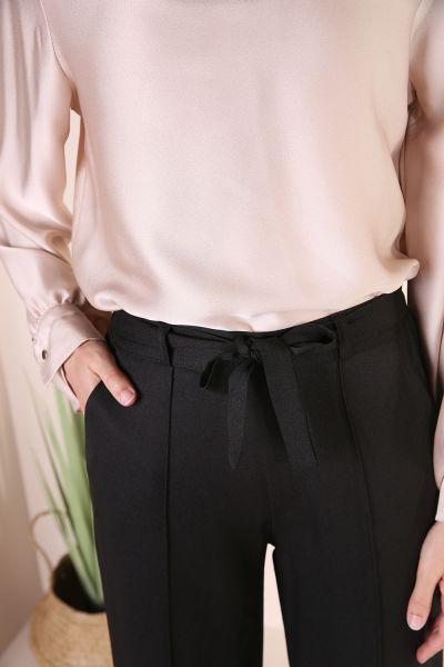 Bol Paça Bel Bağcıklı Pantolon