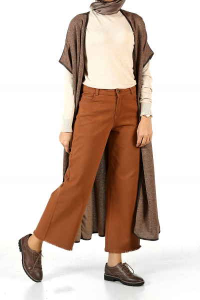 HIJAB WIDE LEG TASSEL TROUSERS