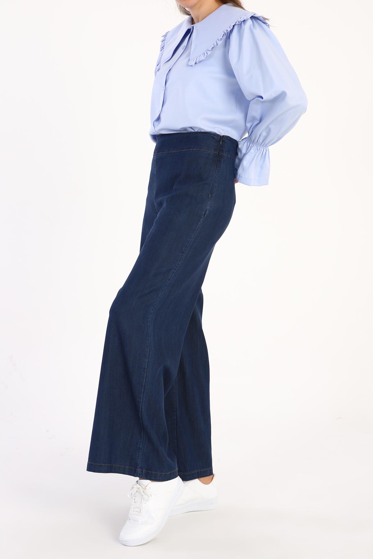 Wide Leg High Waist Tencel Pants