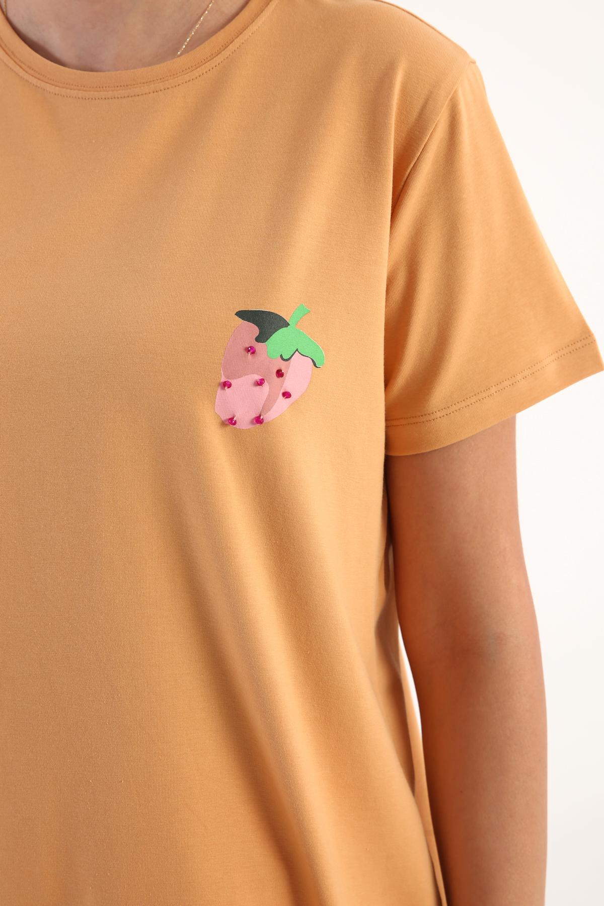 Comfy Crew-Neck Printed T-Shirt