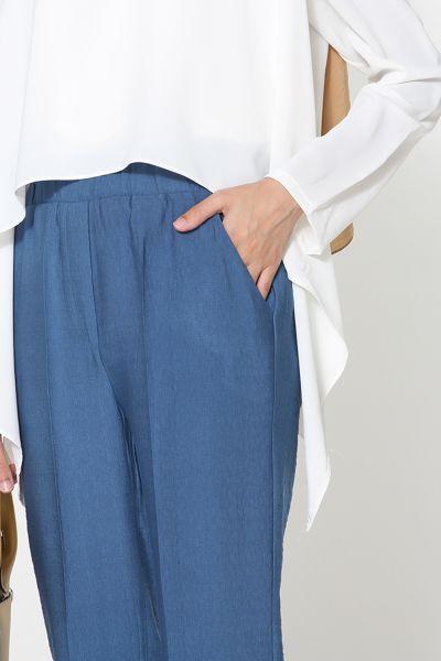 Boru Paça Bel Lastikli Pantolon