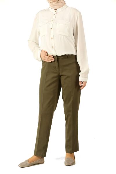 Boru Paça Pamuklu Pantolon