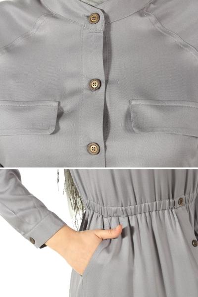 Boydan Düğmeli Elbise