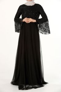 PLUS SIZE HIJAB EVENING DRESS