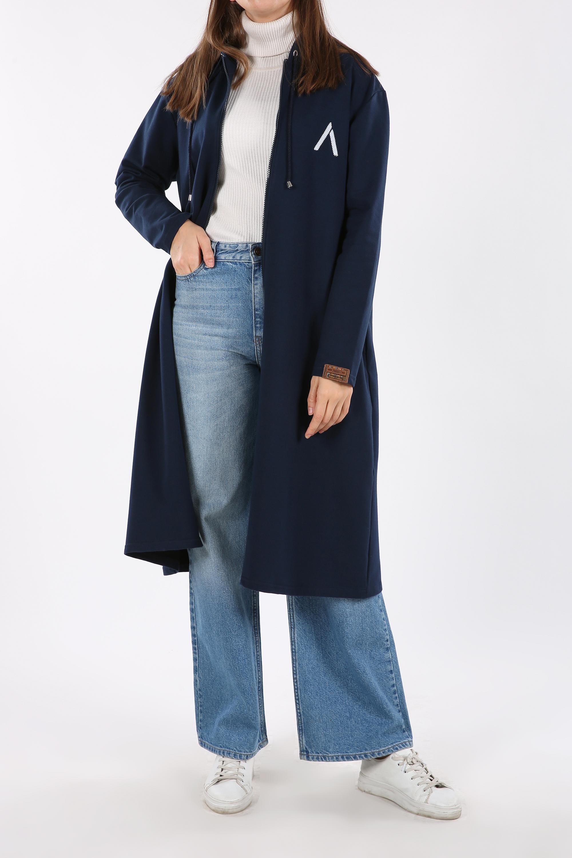 Plus Size Printed Cardigan
