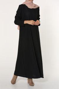 Büyük Beden Kendinden Desenli Elbise