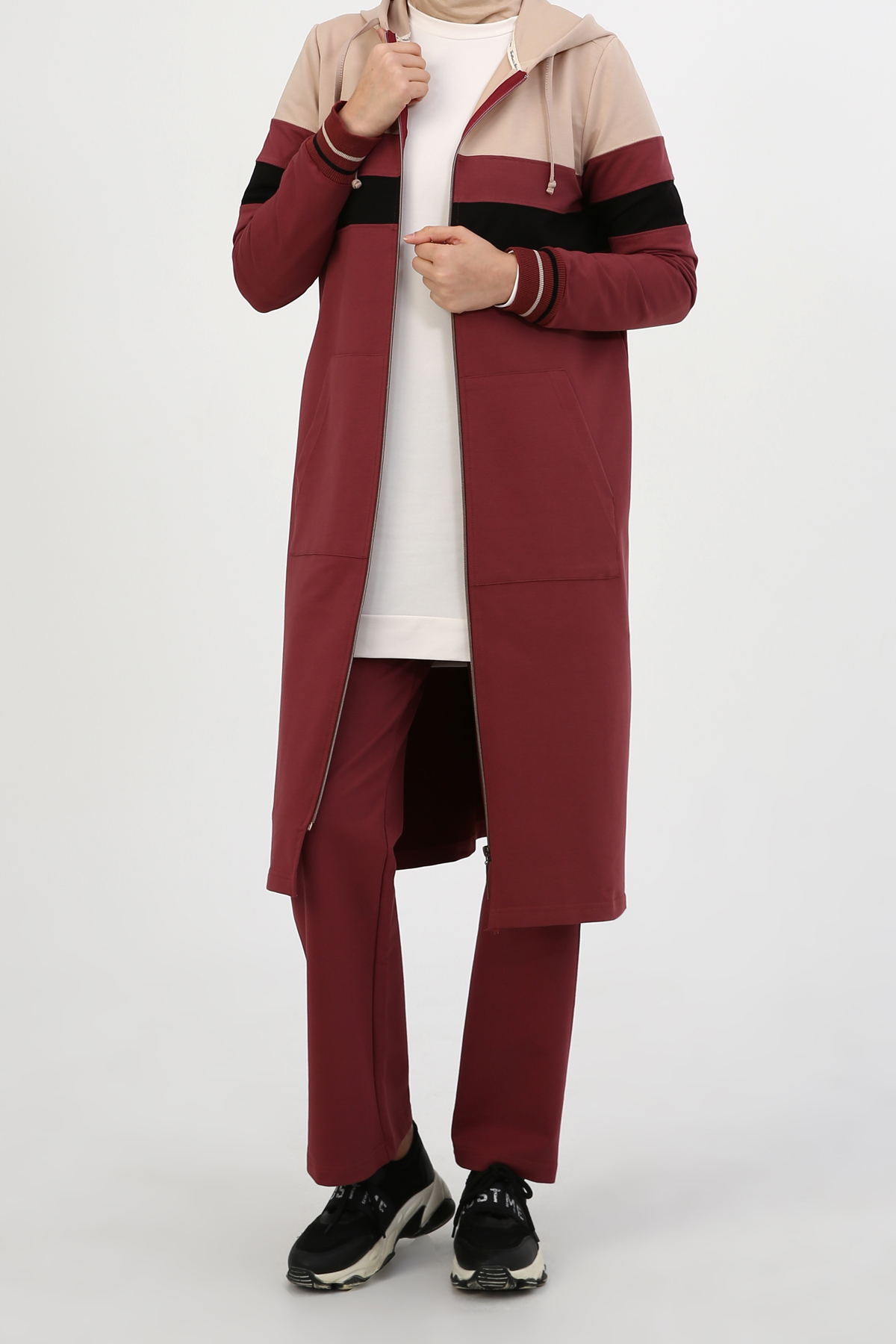Plus Size Hooded Tracksuit