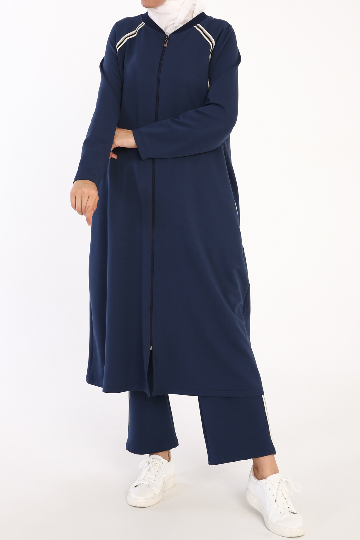 Pockets Zippered Plus Size Track Suit