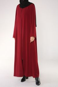 PLUS SIZE ZIPPERED ABAYA