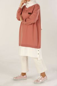 PLUS SIZE COMBED COTTON TUNIC