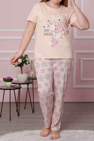 Büyük Beden Kısa Kollu Pijama Takımı