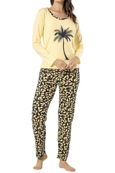 Büyük Beden Desenli Pijama Takımı