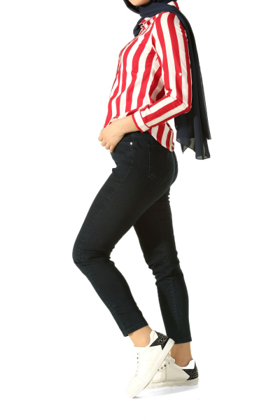 HIJAB PLUS SIZE HIGH WAIST JEANS