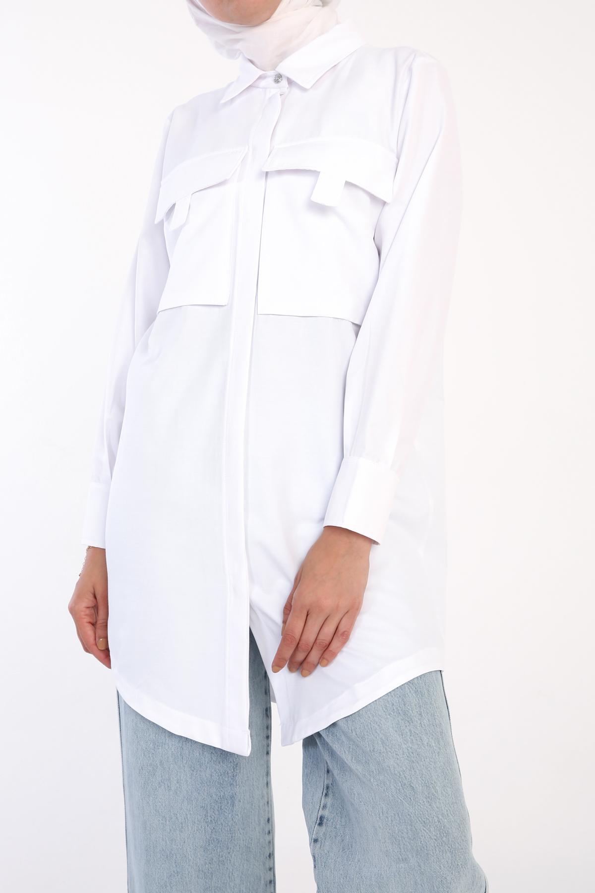 Pocket Front Shirt Tunic