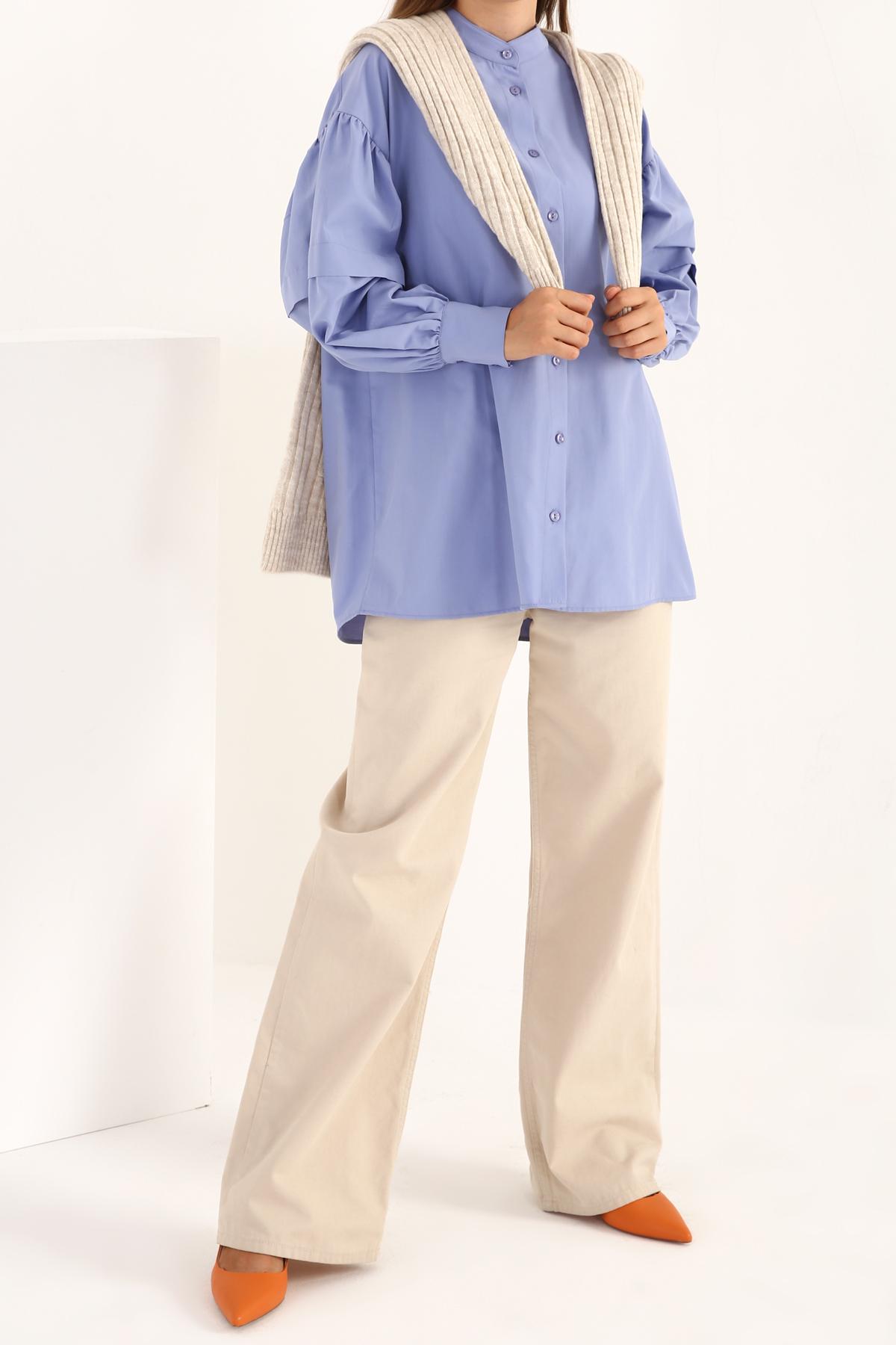 Shir Detailed Sleeve Shirt Tunic