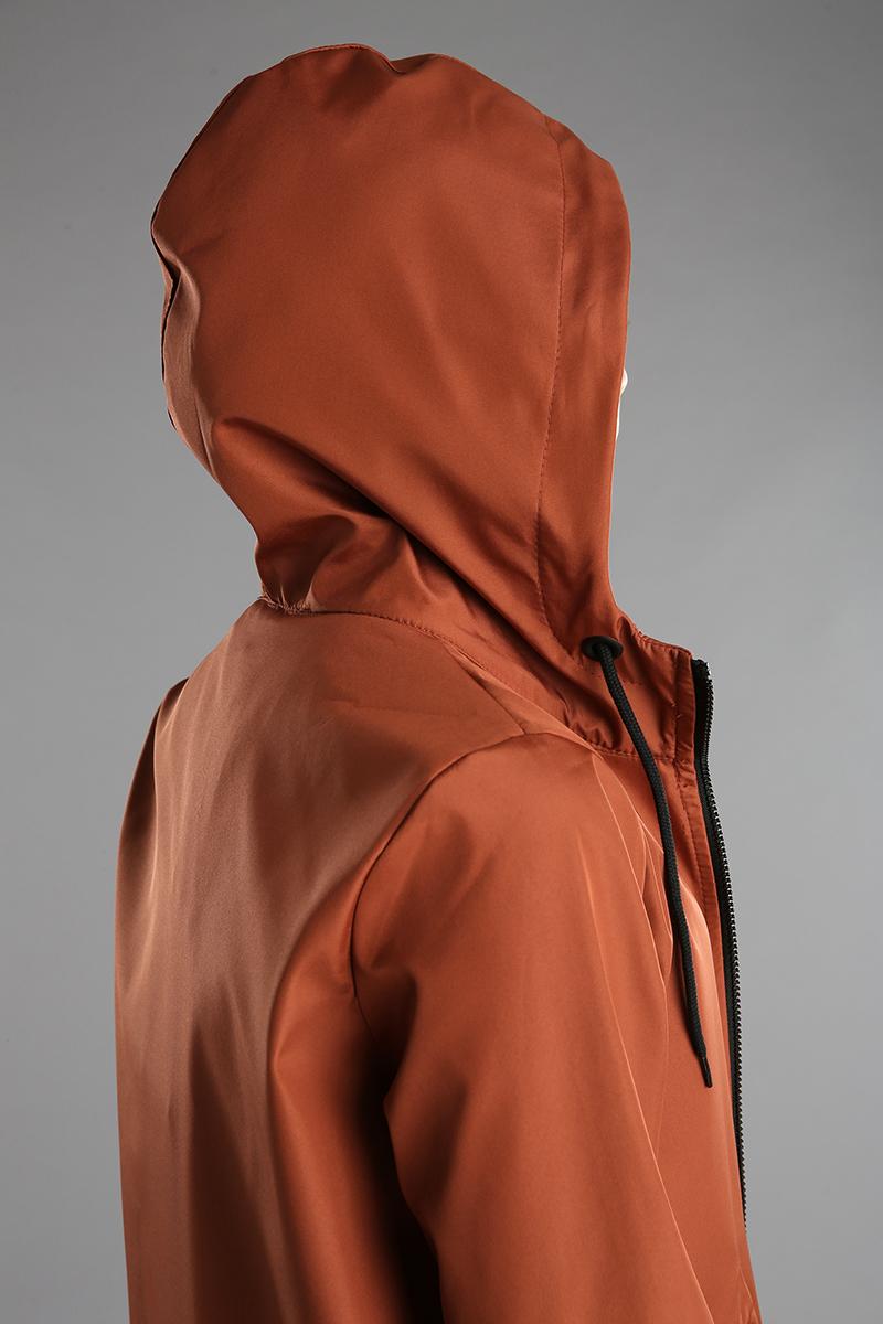 Hooded Zippered Raincoat