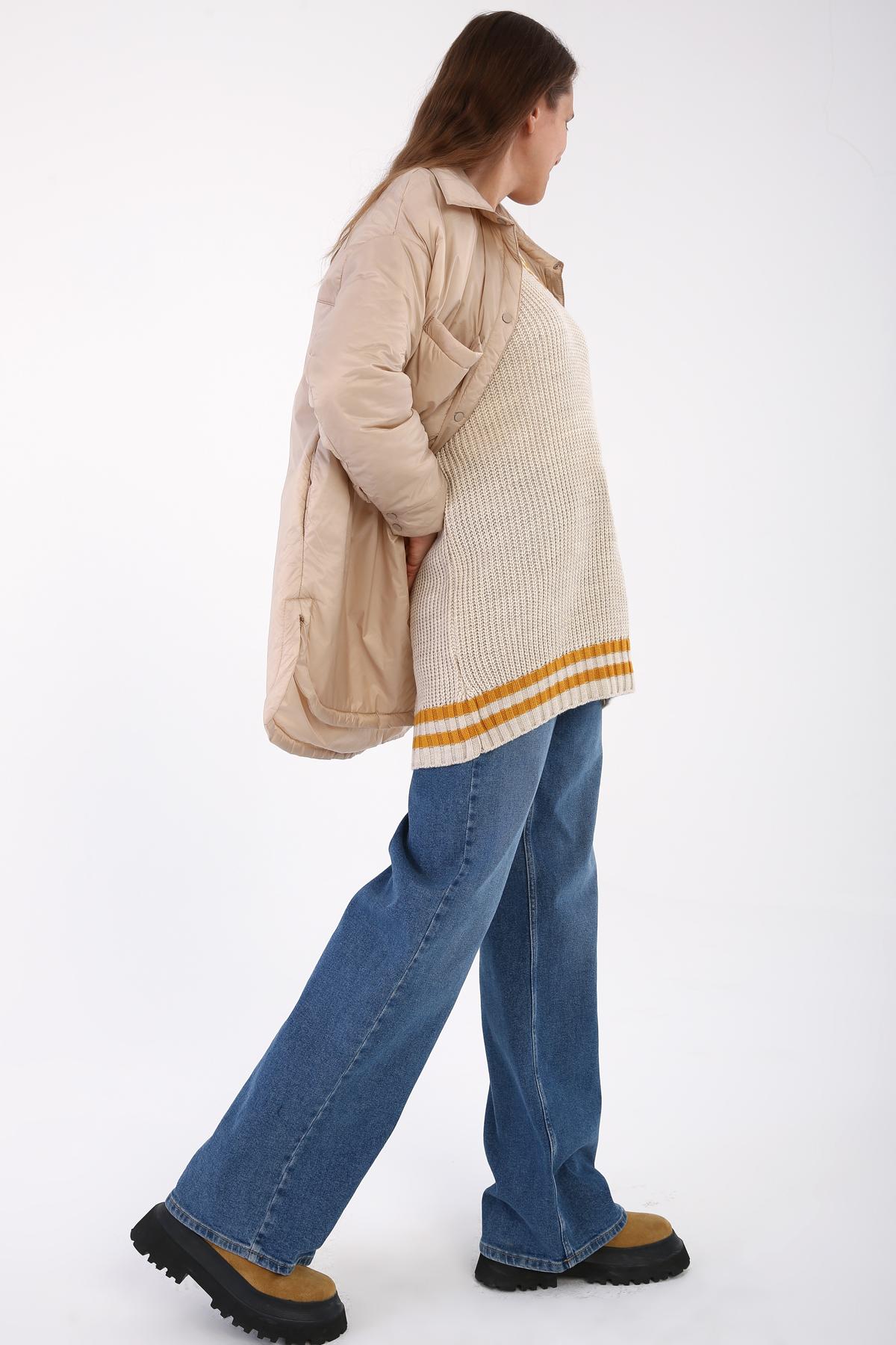 Maxi Wowen Jacket with Pockets