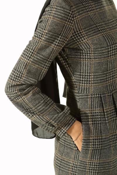POCKET PLAID DRESS