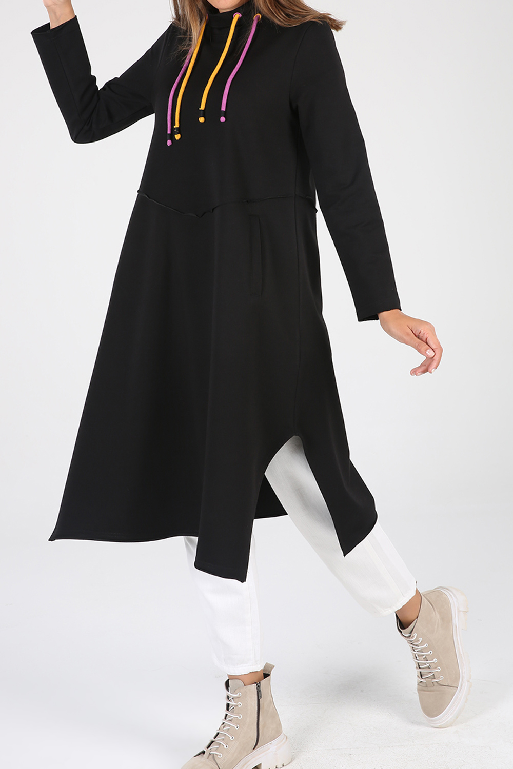 Lace Detailed Tunic With Pockets