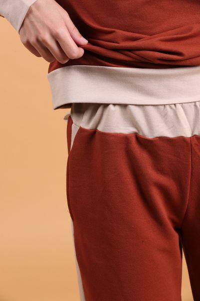 Kapüşonlu Cepli Pantolonlu İkili Takım