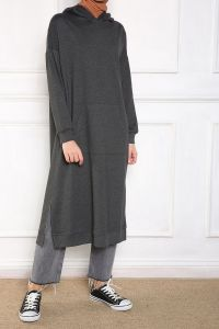HOODED TUNIC WITH POCKET