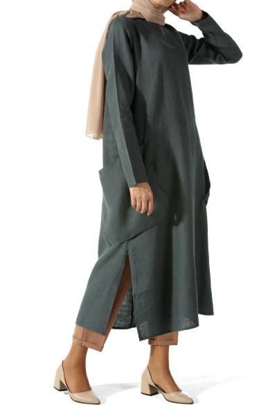 LINEN TUNIC WITH POCKET