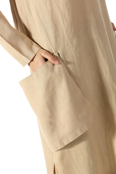BEGINNED LINEN TUNIC