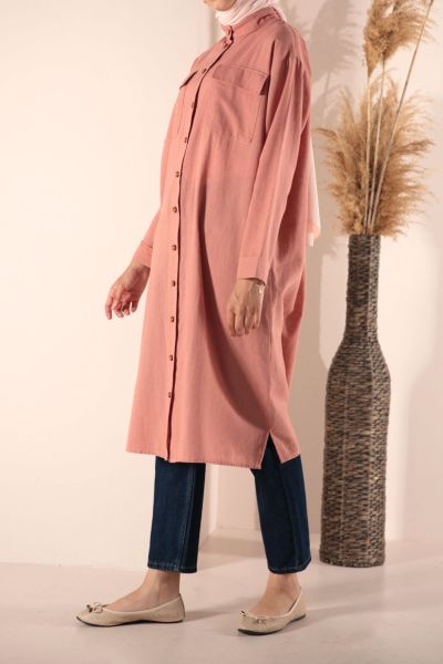 POCKET LINEN TUNIC