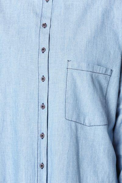 Cepli Düğmeli Denim Kot Gömlek Tunik