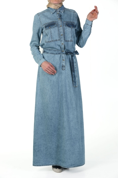 Hijab Denim Dress Allday