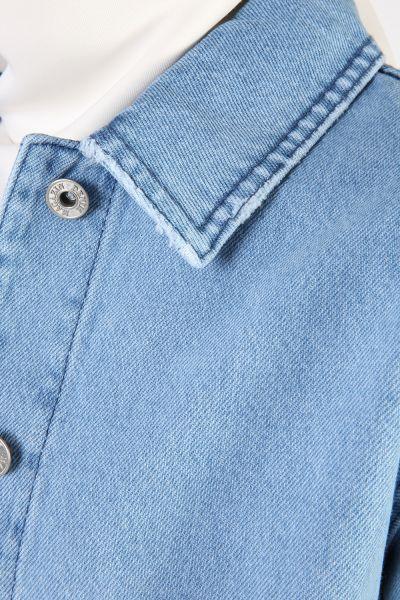 Cepli Metal Düğmeli Kot Ceket