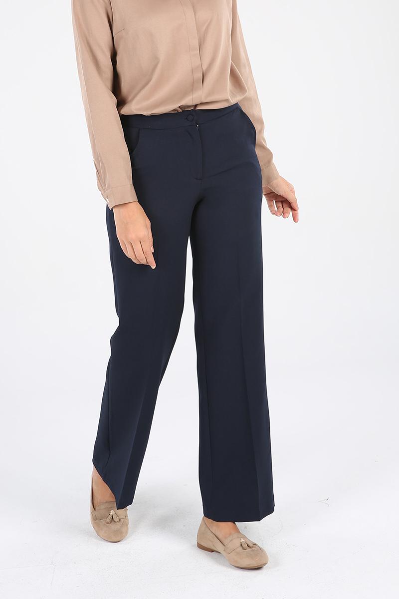Cepli Düğmeli Fermuarlı Pantolon