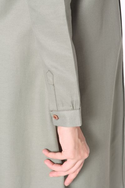 HIDDEN BUTTON POCKET SHIRT