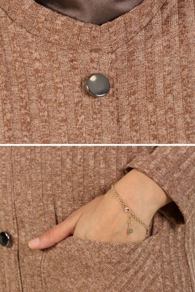 Düğmeli Triko Tunik