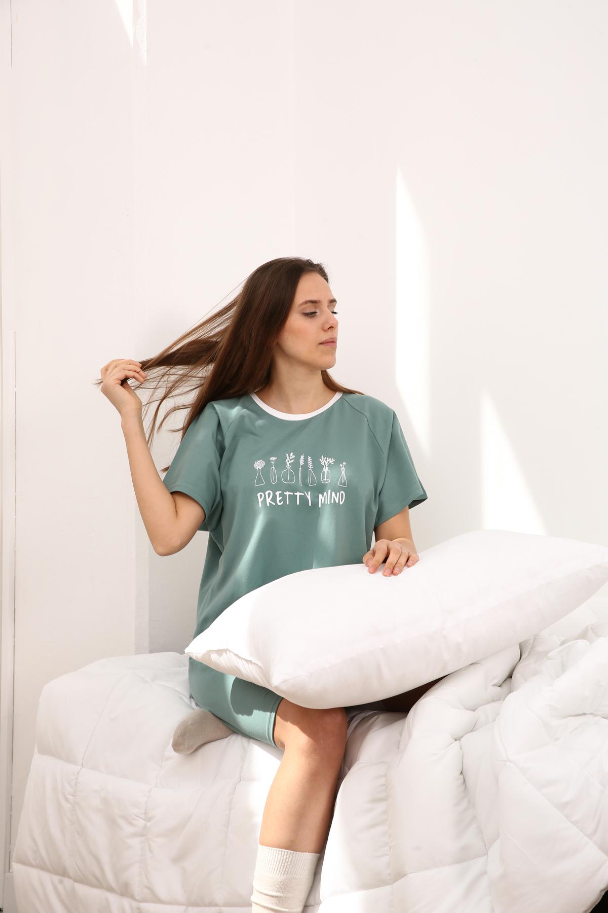 Comfy Flower Printed Nightdress