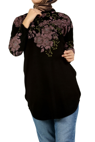 FLOWER PRINTED TRIKO TUNIC