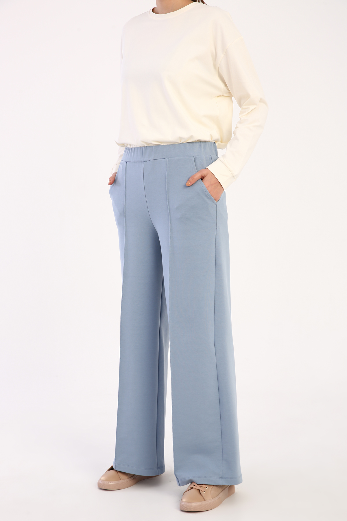 Wide Leg Sweatpants With Pocket