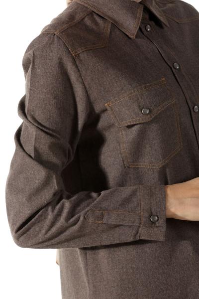 Çıtçıtlı Robalı Gömlek Tunik