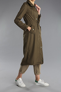 Snap Button Pocket Trench Coat