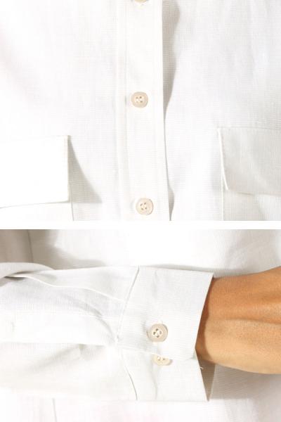 Çizgili Cepli Gömlek