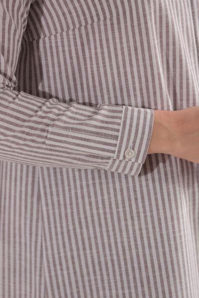 Çizgili Keten Gömlek