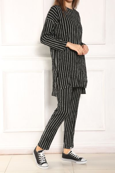 Striped Hijab Suit