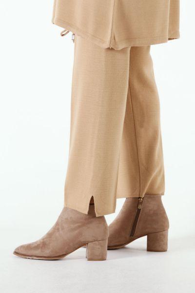 Kapüşonlu Çizgili Pantolonlu Triko İkili Takım