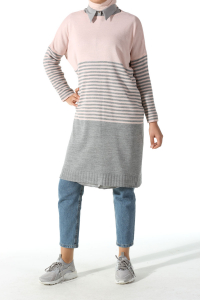 STRIPED KNITWEAR TUNIC