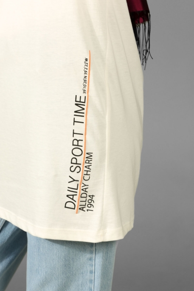 DAILY SPORT PRINTED COMBED COTTON TUNIC
