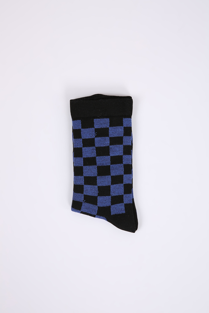 Checkered Patterned College Socks