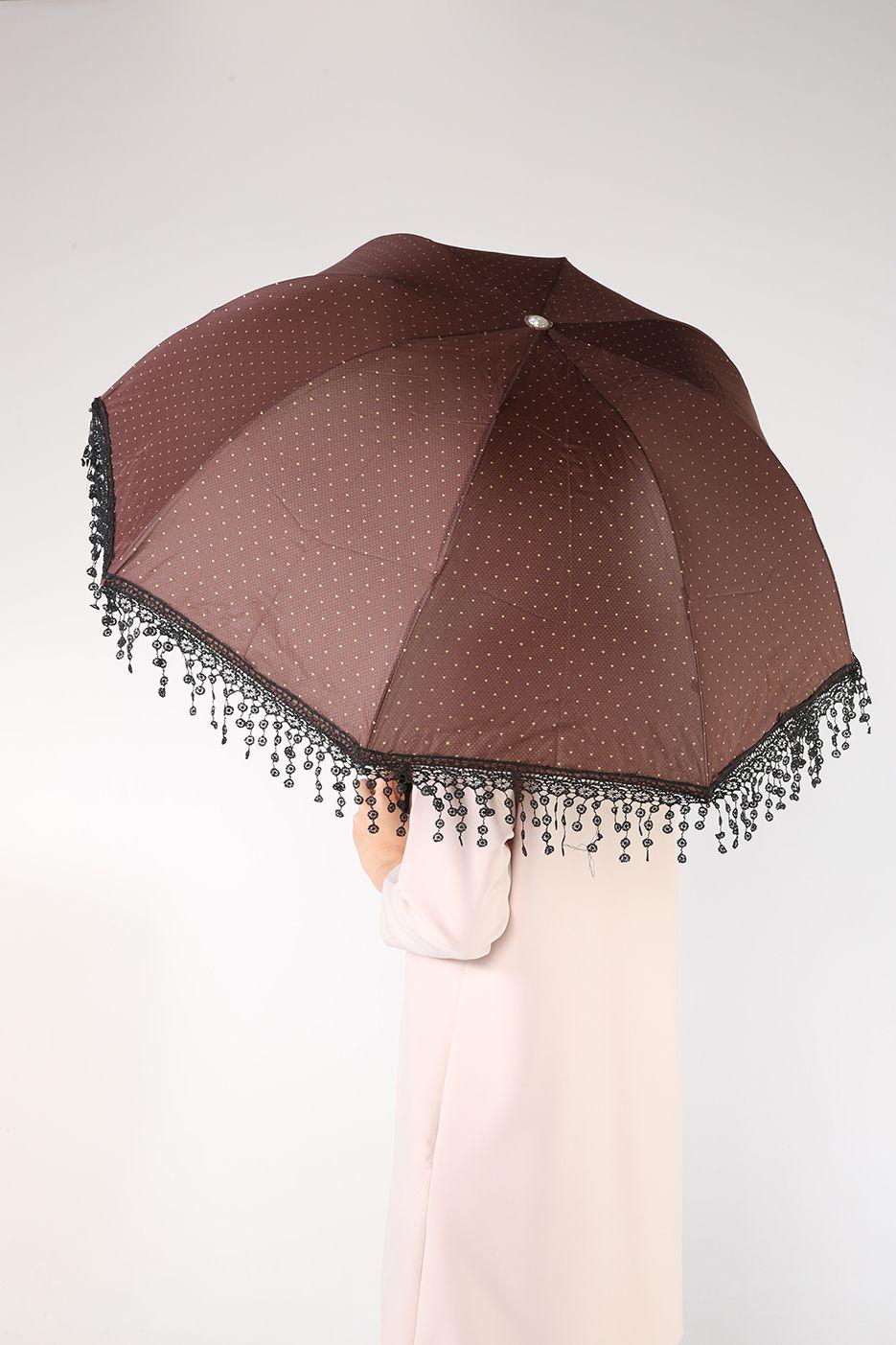 Dantel Püsküllü Şemsiye